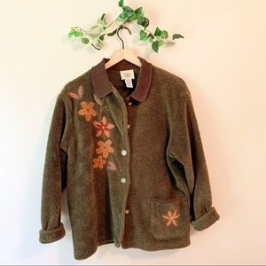 Vintage Embroidered Teddy Bear Coat